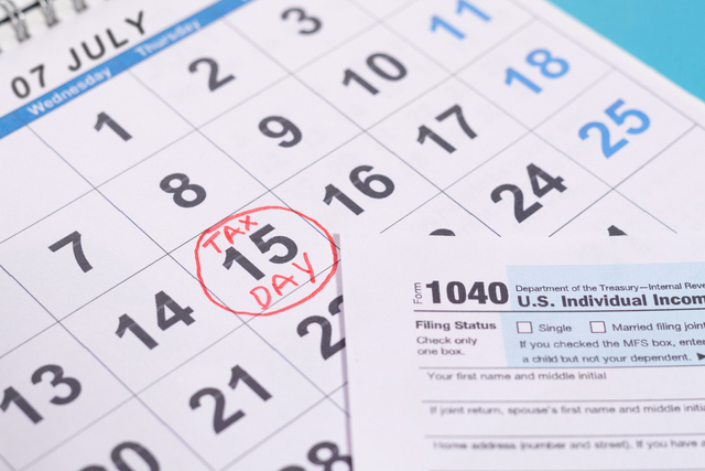 July 15 Tax Due Date Reminder